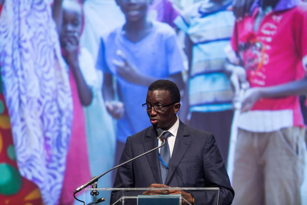 Amadou Bâ, ministre sénégalais de l'Économie et des Finances, a slaué l'initiative allemande de mettre l'Afrique au coeur du G20 (image d'illustration). ©  ZACH GIBSON / AFP