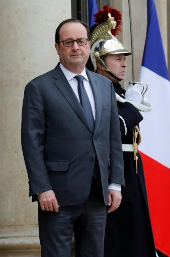 Le président français François Hollande, le 20 mars 2017 à l'Elysée à Paris © FRANCOIS GUILLOT AFP