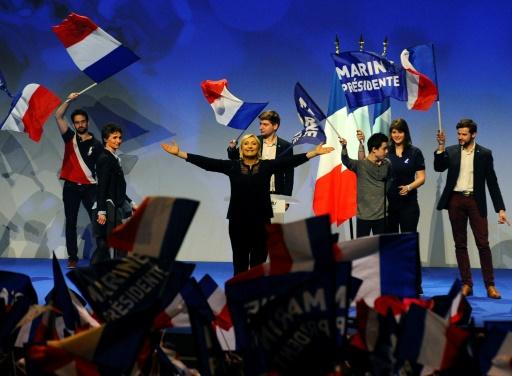 Meeting électoral de Marine Le Pen à Metz le 18 mars 2017 © Jean Christophe VERHAEGEN AFP
