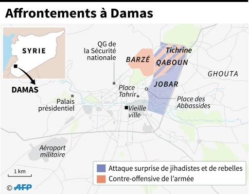 Affrontements à Damas © Jonathan JACOBSEN, Paz PIZARRO AFP
