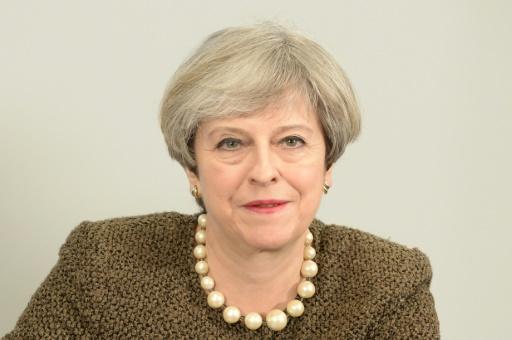 Theresa May, le 20 mars 2017 à Swansea © Ben Birchall POOL/AFP