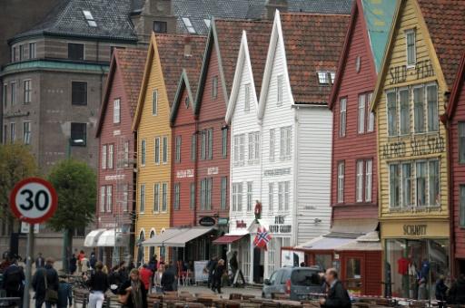 Une rue de Bergen, le 11 septembre 2014 © ERIC PIERMONT AFP