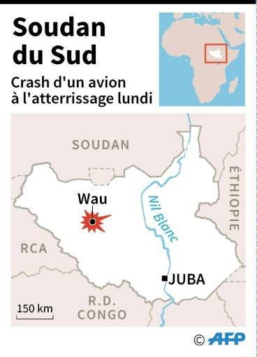 Localisation de Wau au Soudan du Sud, où un avion s'est écrasé à l'atterrissage.  © Simon MALFATTO, Iris de VERICOURT AFP