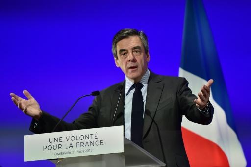 François Fillon à Courbevoie, près de Paris, le 21 mars 2017 © CHRISTOPHE ARCHAMBAULT AFP