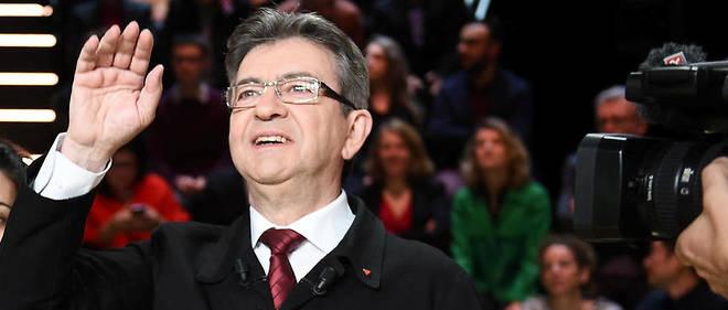 Le candidat de La France insoumise lors du premier débat précédant le premier tour de la présidentielle.