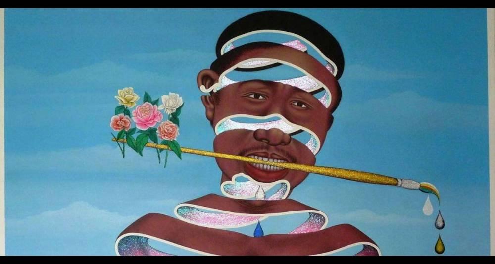 Chéri Samba, J'aime la couleur, 2003, Collection de la Fondation Louis Vuitton.  ©  Chéri Samba : photographe : Claude Germain, Primae