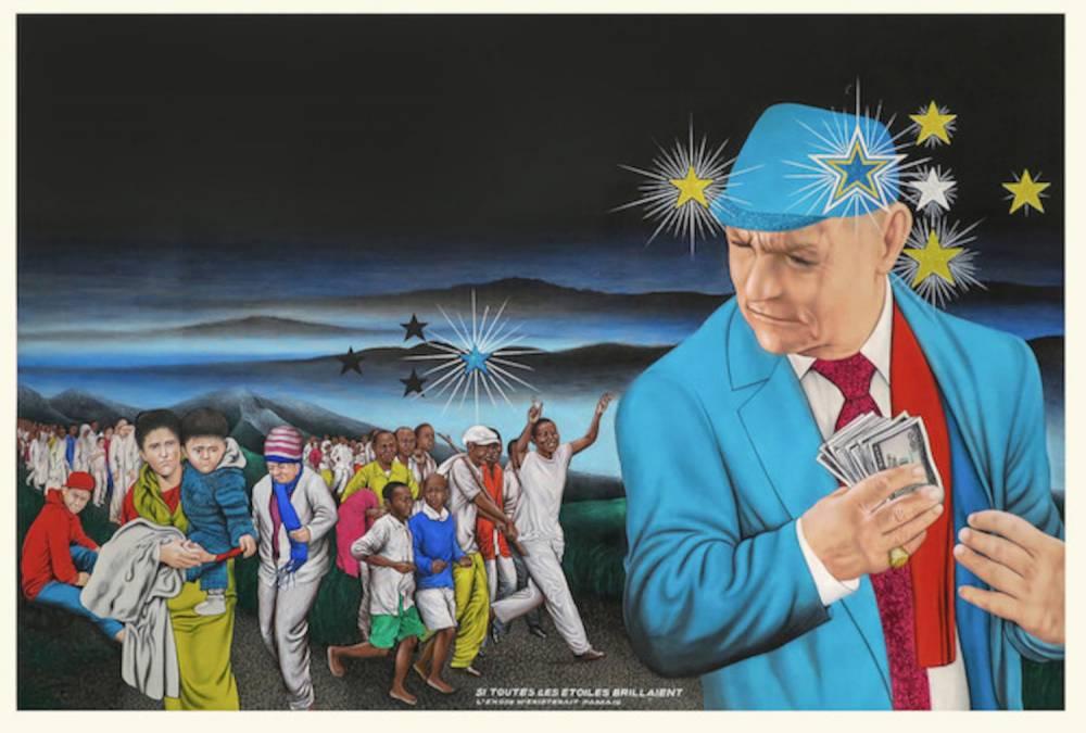 Chéri Samba Si toutes les étoiles brillaient , 2016 Peinture 135 x 200 cm Magnin-A, Paris ©  Chéri Samba