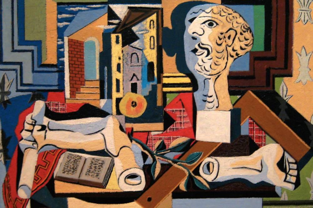 Peinture cubiste de Picasso, qui sera exposée à Rabat.