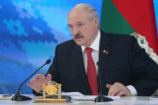 Le président belarusse Alexandre Lukachenko devant la presse étrangère, le 3 février à Minsk, à l'heure d'une tentative de dégel avec les Occidentaux © Nikolai PETROV BELTA/AFP/Archives