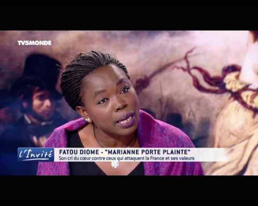 L'écrivaine Fatou Diome sur l'antenne de TV5 Monde dont elle était l'invitée.  ©  DR