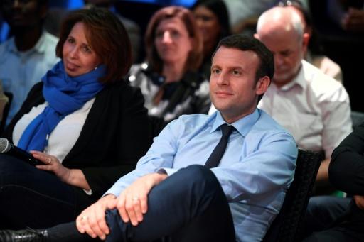 Emmanuel Macron à Saint-Denis, près de Paris, le 30 mars 2017 © Eric FEFERBERG AFP