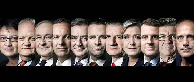Les 11 candidats engagés dans l'élection présidentielle.