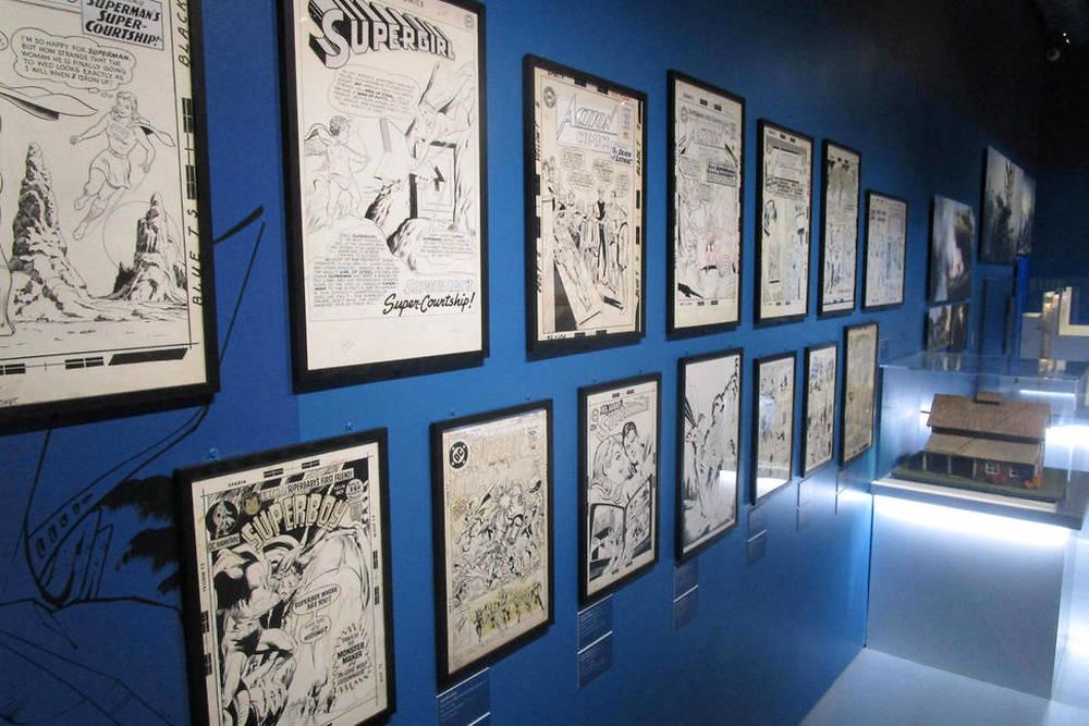 Planches originales de comics Superman.
