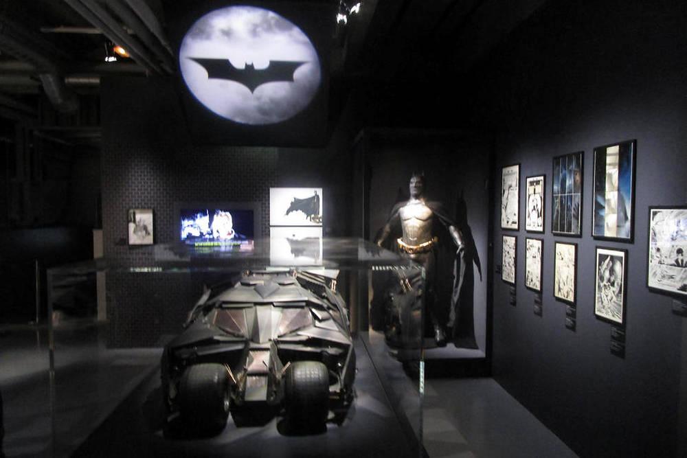 L'espace dédié à la trilogie Dark Knight.