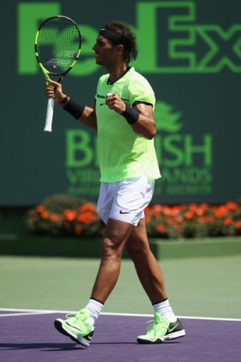 Nadal va retrouver Feder en finale après sa victoire sur Fognini, le 31 mars 2017 à Key Biscayne © JULIAN FINNEY GETTY IMAGES NORTH AMERICA/AFP