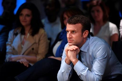Emmanuel Macron en campagne à Saint-Denis, près de Paris, le 30 mars 2017 © Eric FEFERBERG AFP
