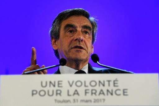 François Fillon en campagne à Toulon, dans le sud de la France, le 31 mars 2017 © ANNE-CHRISTINE POUJOULAT AFP