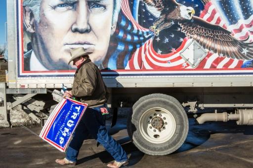 Kraig Moss, en campagne pour Donald Trump, le 28 janvier 2016 à Des Moines, Iowa, aux Etats-Unis © Brendan Hoffman GETTY IMAGES NORTH AMERICA/AFP/Archives