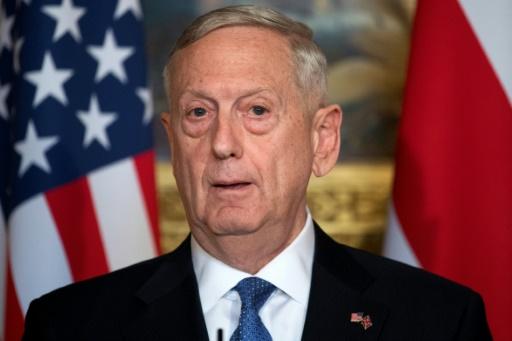 Le patron du Pentagone James Mattis à Londres, le 31 mars 2017 © Justin TALLIS AFP/Archives