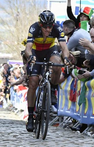 Philippe Gilbert, vainqueur du Tour de Flandres, le 2 avril 2017 à Audenarde © DIRK WAEM ANP/AFP