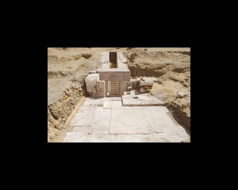 Découverte d'une nouvelle pyramide à Dahchour ©  Ministère des Antiquités égyptiennes