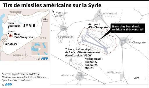 Tirs de missiles américains en Syrie © AFP  AFP