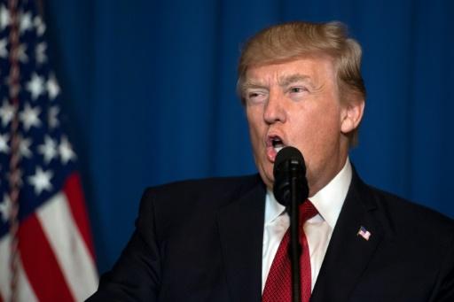 Le président américain Donald Trump, le 6 avril 2017 à West Palm Beach, en Floride © JIM WATSON AFP