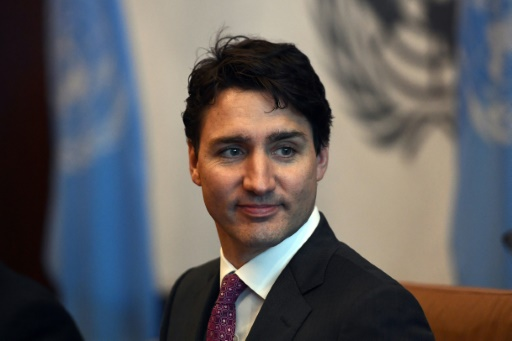 Le premier ministre canadien Justin Trudeau, photographié le 6 avril 2017 à New York, est attendu dimanche à Vimy © Jewel SAMAD AFP/Archives