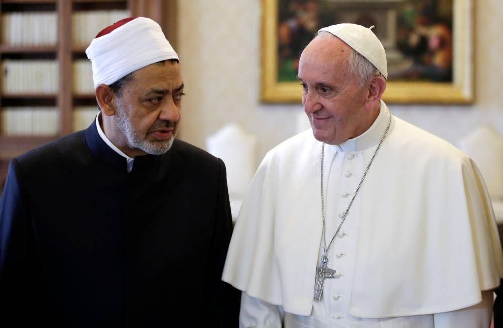 RELIGION-VATICAN-POPE-IMAM ©  POOL / AFP