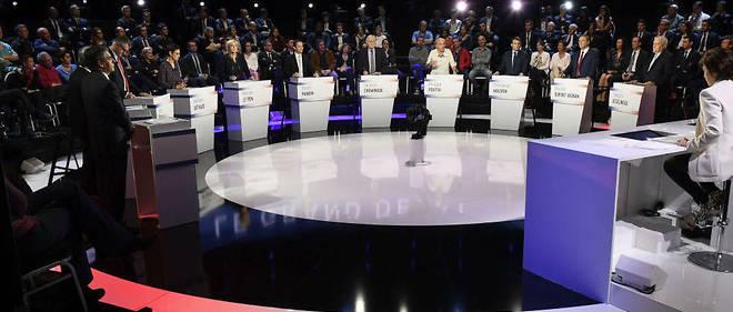"""""""Le Grand Débat"""" des 11 candidats à la présidentielle française de 2017."""