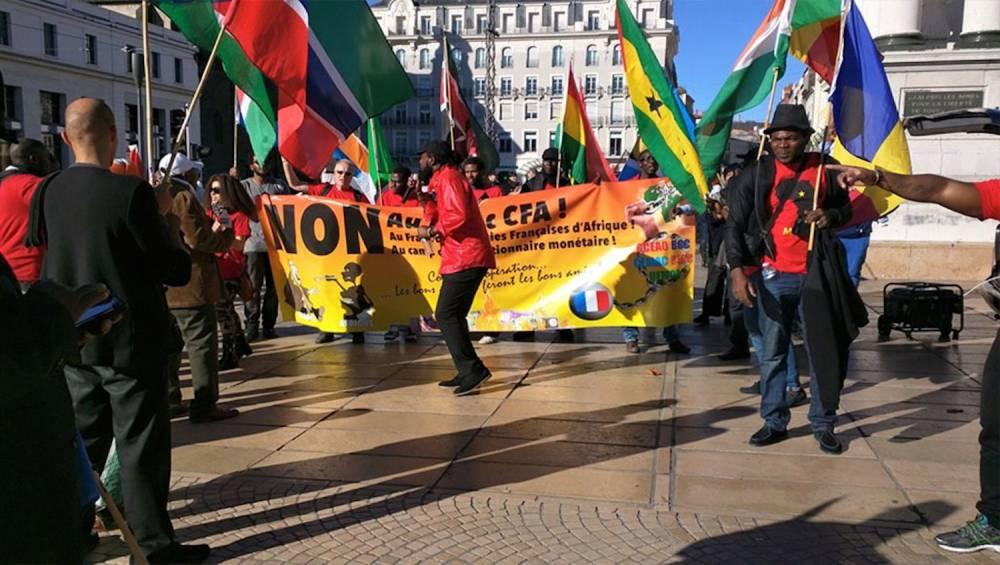 Samedi 7 janvier 2017, une série de manifestations contre le franc Cfa a eu lieu à travers plusieurs capitales ou grandes villes africaines et européennes. ©  DR