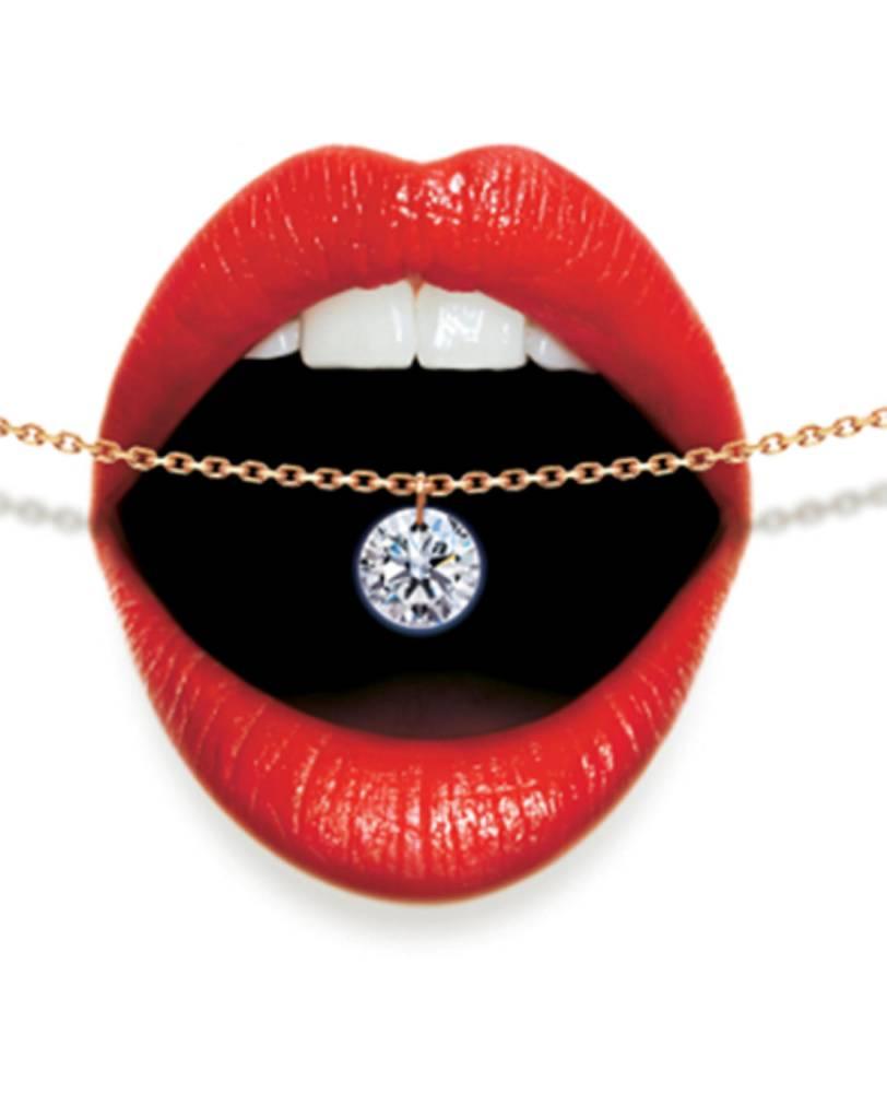 collier diamant nu