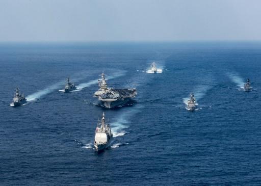 Photo de l'US Navy photo du 31 mars 2017 montrant l'USS Carl Vinson et sa flotille © MCS 3rd Class Matt BROWN US NAVY/AFP/Archives