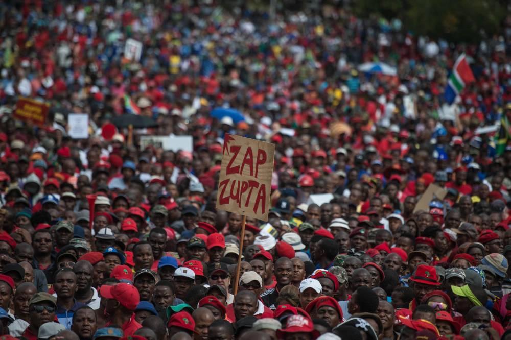 SAFRICA-POLITICS-DEMONSTRATION-OPPOSITION-DEMO ©  MUJAHID SAFODIEN / AFP