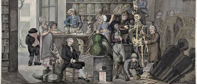 """""""Allégorie sur la philosophie de Kant"""", tableau du néerlandais Jacob Smies (v. 1774-1833)."""