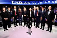 Dix des onze finalistes à l'élection présidentielle (Philippe Poutou ayant refusé de participer à la