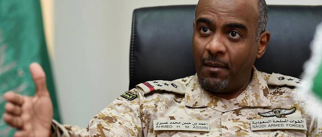 Le général saoudien Ahmed al-Assiri, conseiller du ministre saoudien de la Défense et porte-parole de la coalition arabe au Yémen, dirigée par l'Arabie saoudite.