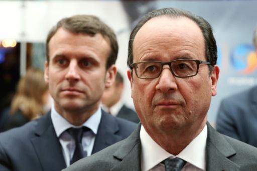 Le président François Hollande et Emmanuel Macron, ministre de l'Economie, le 23 mai 2016 à l'Elysée, à Paris © CHARLES PLATIAU POOL/AFP/Archives
