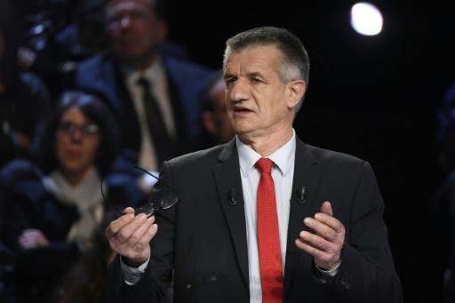 Le candidat centriste à la présidentielle, Jean Lassalle, lors du débat réunissant les 11 candidats, à La Plaine-Saint-Denis, près de Paris, le 4 avril 2017 © Lionel BONAVENTURE POOL/AFP/Archives