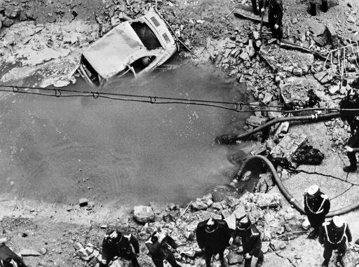 Un attentat à la bombe revendiqué par les séparatistes basques de l'ETA dans lequel le Premier ministre Luis Carrero Blanco a été tué, le 20 décembre 1973 à Madrid  ©  EUROPA PRESS/AFP/Archives
