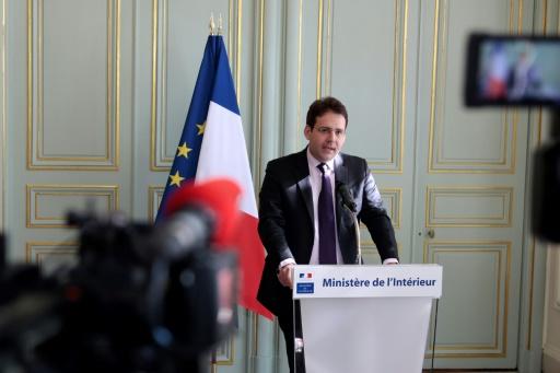 Le ministre de l'Intérieur Matthias Fekl, lors d'une conférence de presse au ministère de l'Intérieur, à Paris, le 8 avril 2017 © GEOFFROY VAN DER HASSELT AFP/Archives