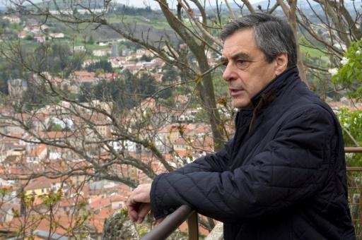 Le candidat LR à l'élection présidentielle François Fillon lors d'un déplacement au Puy-en-Velay, en Haute-Loire, le 15 avril 2017  © Thierry Zoccolan AFP