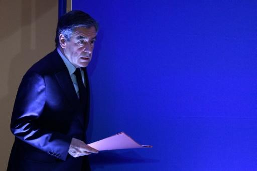 François Fillon arrive au QG du parti Les Républicains pour une conférence de presse sur les accusations dirigées contre lui, à Paris, le 6 février 2017 © Martin BUREAU AFP/Archives