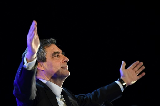 François Fillon lors d'un meeting de campagne à Toulon, le 31 mars 2017 © ANNE-CHRISTINE POUJOULAT AFP/Archives