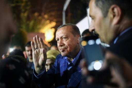 Le président turc Recep Tayyip Erdogan, le 16 avril 2017 à Istanbul © Bulent Kilic   AFP