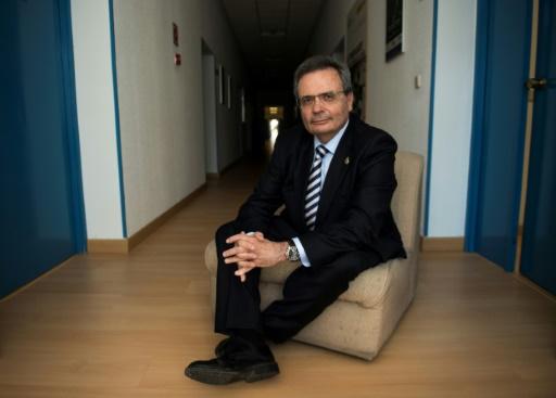 Rafael Matesanz, directeur et fondateur de l'Organisation nationale des transplantations (ONT), le 24 janvier 2017 à Madrid © PIERRE-PHILIPPE MARCOU AFP