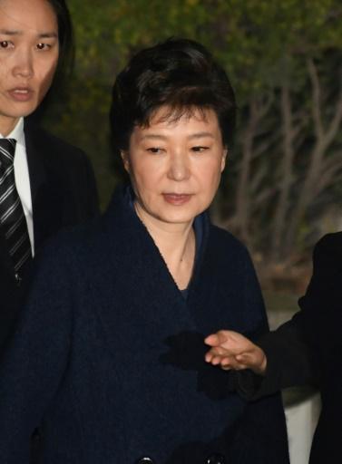 L'ex-présidente sud-coréenne Park Geun-Hye, le 30 mars 2017 à Séoul © Song Kyong-Seok POOL/AFP/Archives