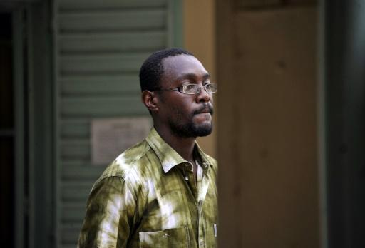 Ben Ouédraogo, le 3 juillet 2015 à Ouagadougou, père d'une des deux fillettes franco-burkinabè ayant subi des attouchements sexuels par un soldat français © AHMED OUOBA AFP/Archives