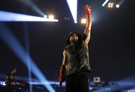 Le rappeur français Kery James sur la scène de l'Olympia à Paris le 14 mars 2017 © FRANCOIS GUILLOT AFP/Archives