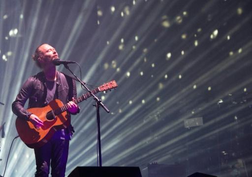 Radiohead sur la scène du festival californien Coachella, à Indio, le 14 avril 2017 © VALERIE MACON AFP/Archives